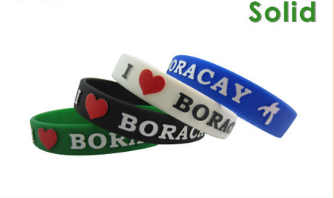 Hot silicone wristband