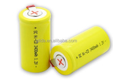 Rechargeable High Temperature Ni-Cd Battery/NiCd/Ni-Cad/Nickel Cadmium SC 3400mAh 1.2V Manufacturer with CE,ROHS,UL certificates