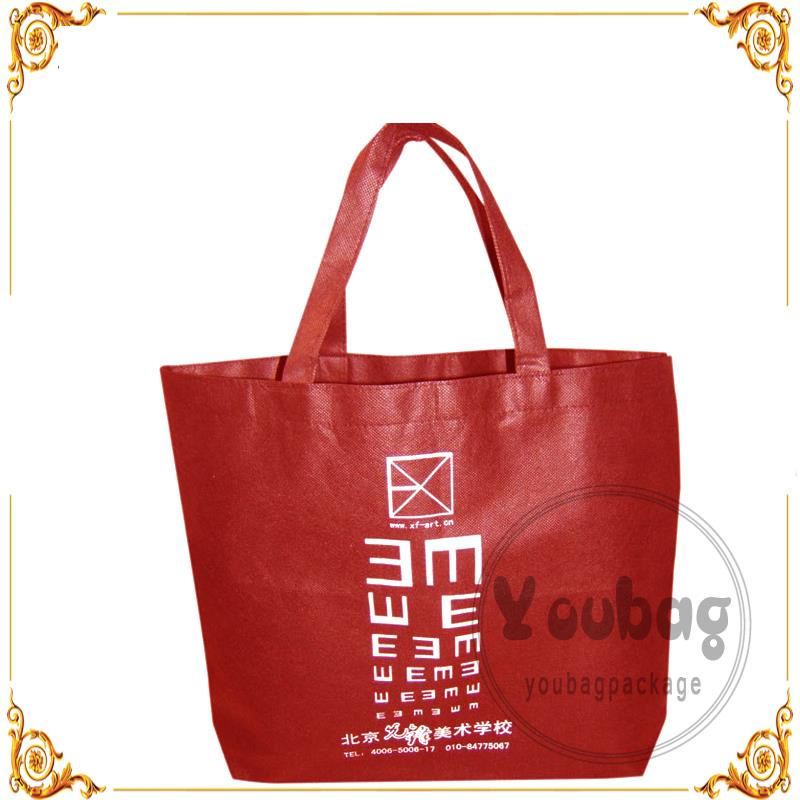 polyester canvas gold color pp bag classical t shirt non woven bags