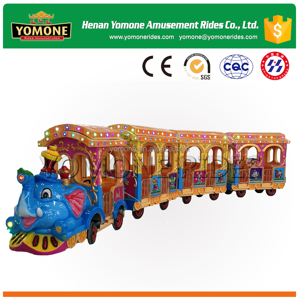 Theme park amusement rides of tourist elephant trackless train for sale