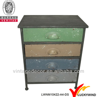 hand paint shabby chic rusty metal furniture