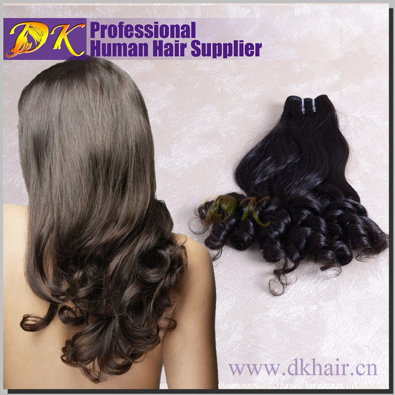 Full cuticles double weft water wave hair weave human Brazilian virgin sexy aunty fumi hair