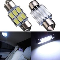 Pure White 31MM 5630 SMD 6 LED Car Lights Led Auto Festoon Dome DC12V