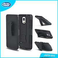 Protective rugged robot clip holster case for Samsung galaxy for note 4