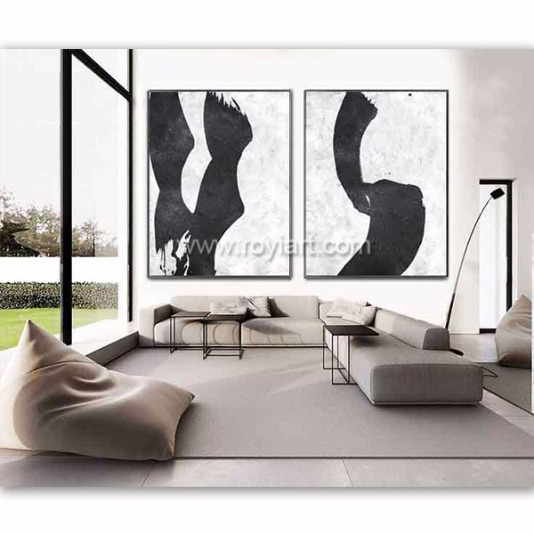 Handmade modern abstract acrylic large canvas oil painting