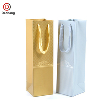 Factory Eco Friendly Luxury High Grade Custom Hot Selling Red Wine Bottle Gift Paper Bag