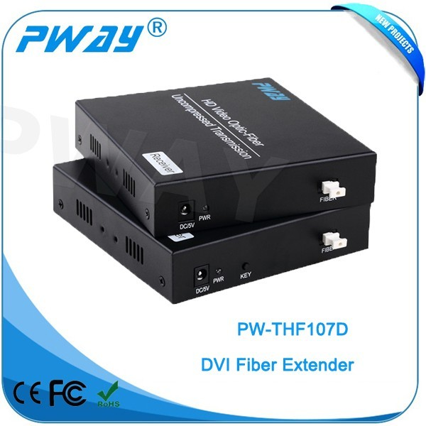 vga extender over cat5 new products 1080P DVI to fiber optic extender 10KM with EDID/RS232/External stereo audio DVI Extender