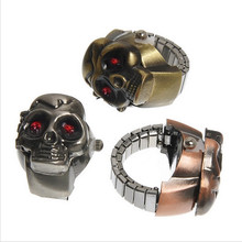 Cool Jewelry Personalized Ancient Silver Skull Finger Ring Watch
