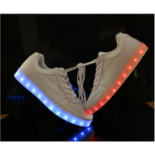 2016 foreign trade light colorful shoes USB LED shoes charging lamp luminous shoes