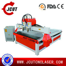 JCUT1325 Multi head high speed abs plate pvc cnc router engraving machine for sale