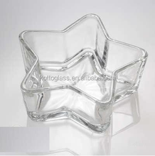 Glass Star Floating Candle Bowl Candle holder Glass Wedding Centerpeice