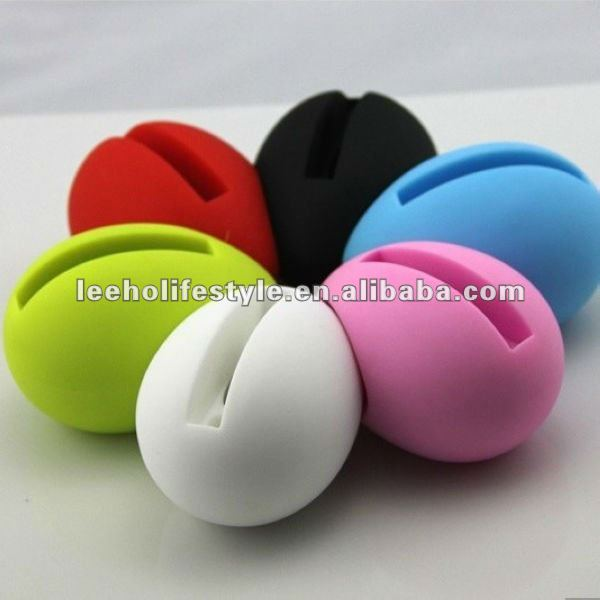 Silicone egg Horn Stand Speaker (Blue + Yellow) for iPhone 4 & 4S / 3GS / 3G