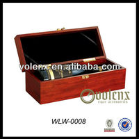 Single Bottle Custom Wooden Wine Gift Box Carrier Crate Case For 750ml Wine(SGS&BV)