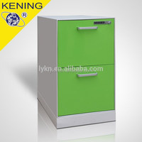 2 Drawers Steel Pedestal Cabinet with top drawer of pencil box