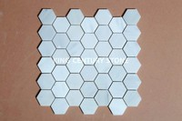 bright color hexagon beautiful white mosaic tile designed century