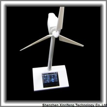 Home office decoration ABS desktop model solar power windmill kids adults gift wind solar turbine