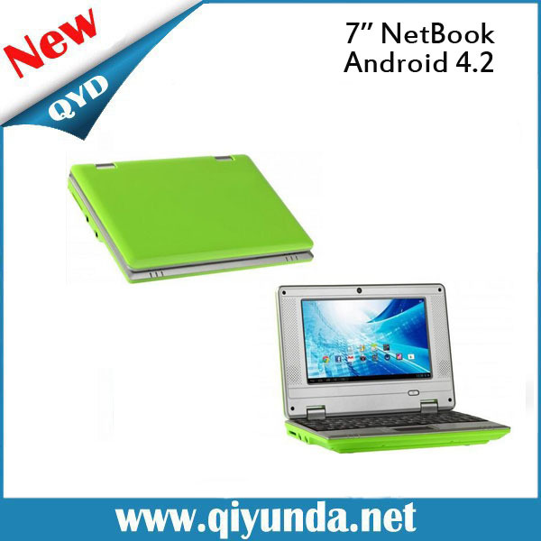 Factory 7inch mini Notebook Computer with high quality laptop netbook