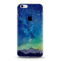 Customs painting half clear phone case for iPhone5s 6s plus many designs covers available