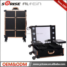 Lowest price professional Hollywood Artist Station Makeup Train Case with Lights