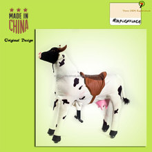 (EN71&ASTM&CE)~(Pass!!)~Dalian Amusement plush horse ride-on/Walking animals horse ride on toy /CW-8 White cow /Magicprince