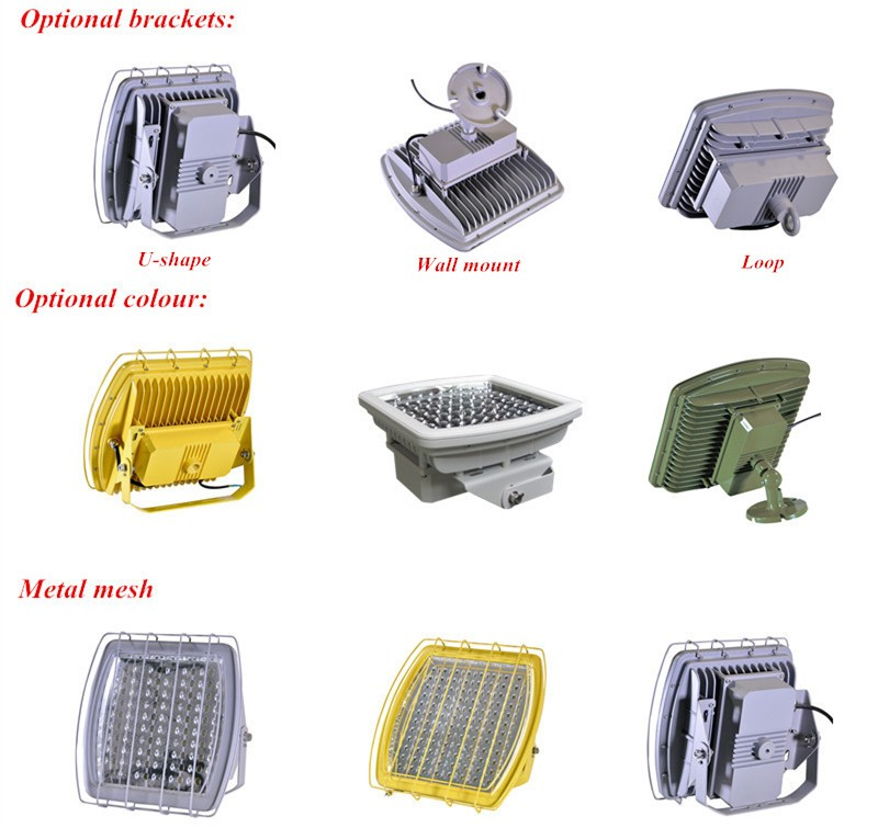 LED Explosion Proof Lights Meanwell HLG driver UL DLC 120w 100w 80w retrofit canopy led gas station light