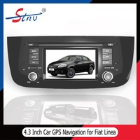 4.3 inch android 4.4.4 gps navigation with car dvd player for Fiat Linea