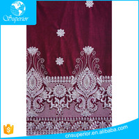 2016 african george lace dresses fashion fabric 100 polyester flannel fabric embroidery sequins velvet high quality indian style