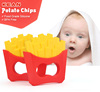 Chips shape silicone baby toothbrush teether