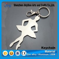 metal highly polished mini ballet shoe key chain manufacturer
