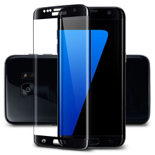 3D 9H curved full cover tempered glass screen protector for Samsung S7 edge