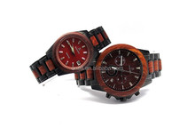 Best gift for lovers japanese quartz movement sandalwood Steel wooden watches for couple