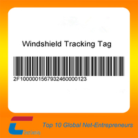 chuang xin jia windshield tag paper, wineshield rfid tag with barcode