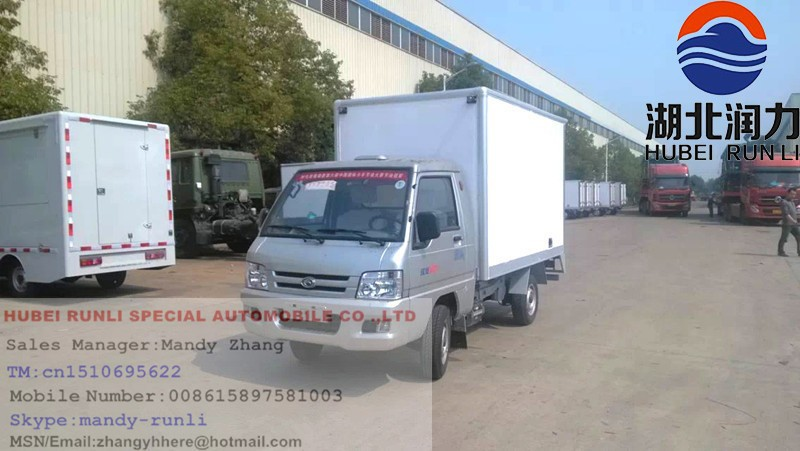 Mini Foton 3 tons refrigerator van truck for meat and fish