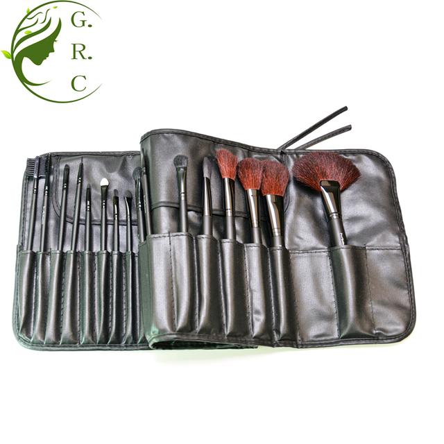 Professional 32 pcs goat hair makeup brush set cosmetic brushes