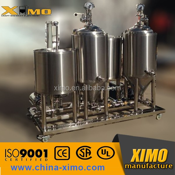 Home brewing equipment 30l mini beer brewing machine/micro brewery plant/automatized brewery