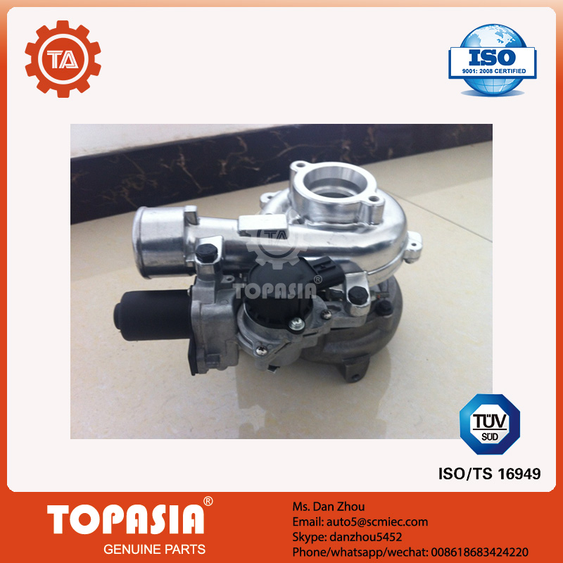 17201-0L040 turbocharger for toyota HILUX SW4 with valve 1kd <strong>turbo</strong> with valve