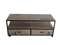 Decorative solid wood TV stand with drawers