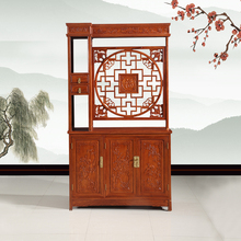 Chinese antique style tall entrance decorative wood carved filing cabinet shoe storage cabinet solid wood shoe cabinet