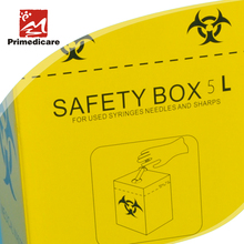 medical safety box for used syringes and sharps
