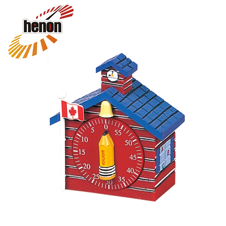 Customized Muliti-function School House plastic mechanical timer