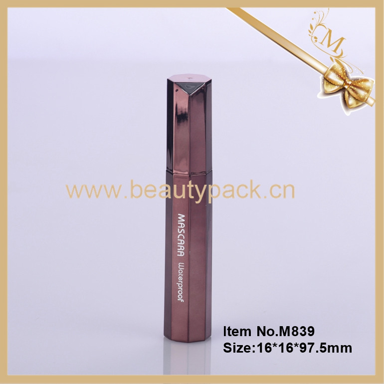 Custom unique empty hexagonal 3d mascara packaging with brush