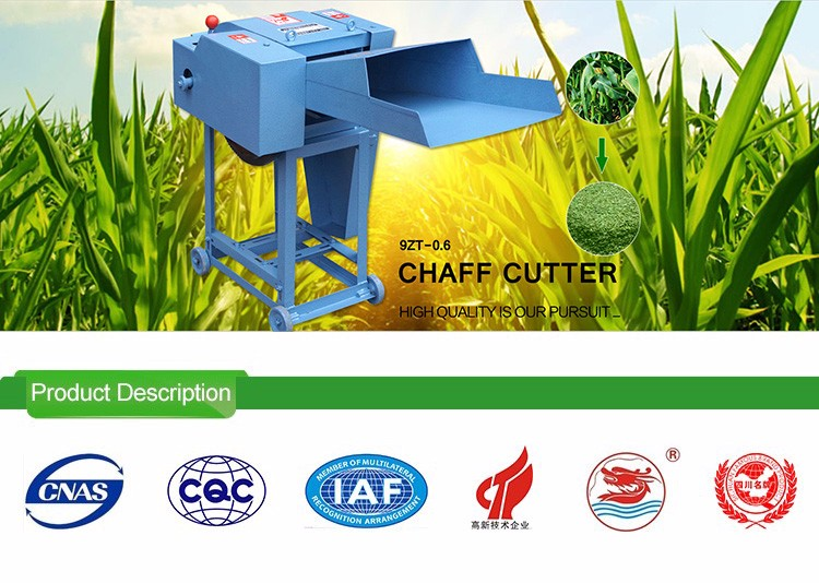 WANMA0357 Factory Supply Automatic Animal Feed Grass Chaff Cutter Pulverizer Machine
