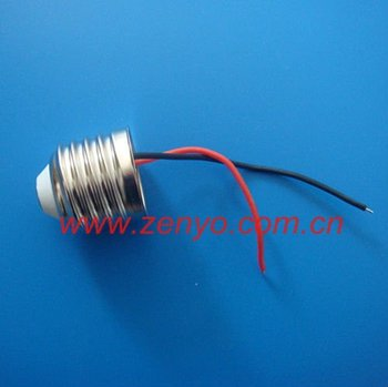 LED Nickel brass E27 lamp base with weld wire