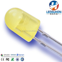 Oval 5mm Yellow led for led display outdoor