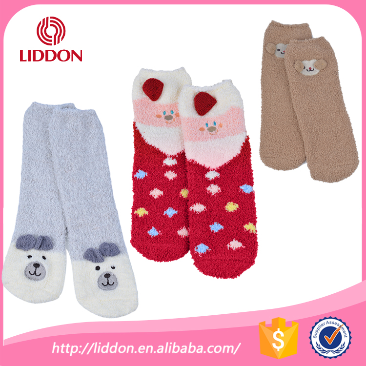 Santa Claus gift for babies kids warm dress in snow winter bear jacquard christmas cute terry loop sock
