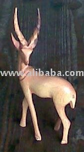 Hand carved wooden Antelope \ Gazelle figurine