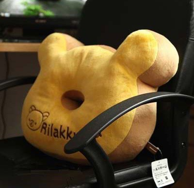 High quality animal plush cushion donut plush toy customize bear head pillow with good quality