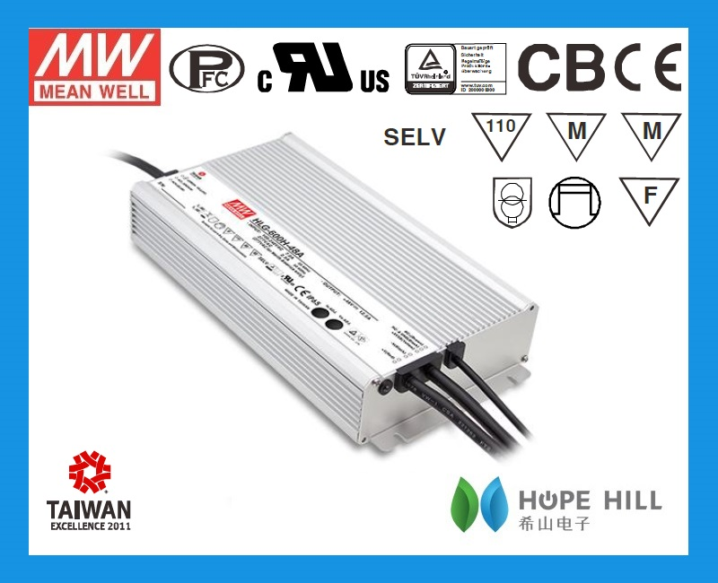 2014 newest original Meanwell 600W 54Vdc single output waterproof LED Driver