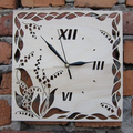 Lily of the Valley Wooden Wall Clock