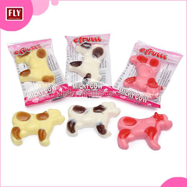 Custom Yummy Cow , Animal Shape Gummy Candy